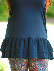 Pretty Little Peek-A-Boo Top/Dress Extender - Navy