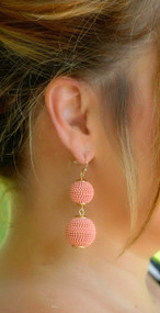 The Bailey Earring - Coral