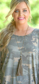 Dirt Road Anthem Necklace - Brown