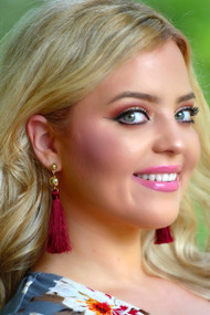 Call Me Ruby Earrings - Wine