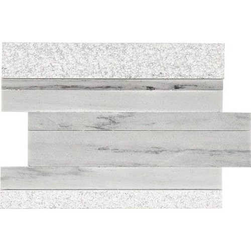 """American Olean Ascend Stone Candid Heather Mixed Finish 9"""" x 12"""" Modern Stack Stone"""