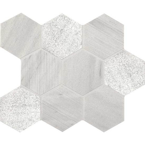 """American Olean Ascend Stone Candid Heather Mixed Finish 4"""" Hex Mosaic"""