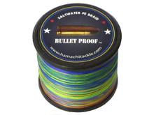 Hamachi Bullet Proof / Extreme Ultra Thin Braid 100LB 1000m .45mm - 10mtr colour change