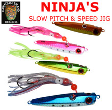 4 x Hawaiian Island Designs Ninja jig pack 60g stinger fish lures trevally kingfish