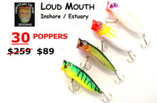 30 pack x Hawaiian Island Designs LOUDMOUTH 85MM 15gram - Fishing lure for Estuary Inshore