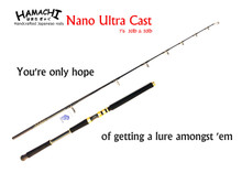 2018 HAMACHI Nano Ultra Cast 50 lb 7'6 Japanese spin Popper fishing rod