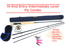 FLY FISHING COMBO HI END - Saltwater Bonefish Trevally Queenies Snapper Tuna