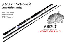 Hamachi XOS GT'n'Doggie 10' PE 6 - 10 / 50 lb 100 lb popper fishing Rod