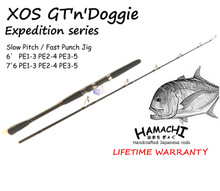 2018 HAMACHI 6 XOS GT'n'Doggie Ex PE1 - 3 ( 10 - 30lb ) Japanese jig fishing rod (spin reel)