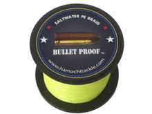BULLET PROOF  Ultra Thin Braid 80LB 1000m .37mm - HI Vis Yellow