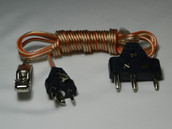 Saber Body Cord with Black Plug and Clear Wire  Interchangeable with Foil body cord