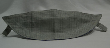 Stainless Steel conductive bib.  This maybe used as a replacement for a foil mask or an overlay for Epee mask