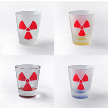 Shot Glass with Radiation Symbol