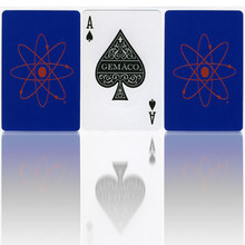 Playing Cards Blue with Atomic Symbol