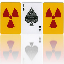 Playing Cards Yellow with Radiation Symbol