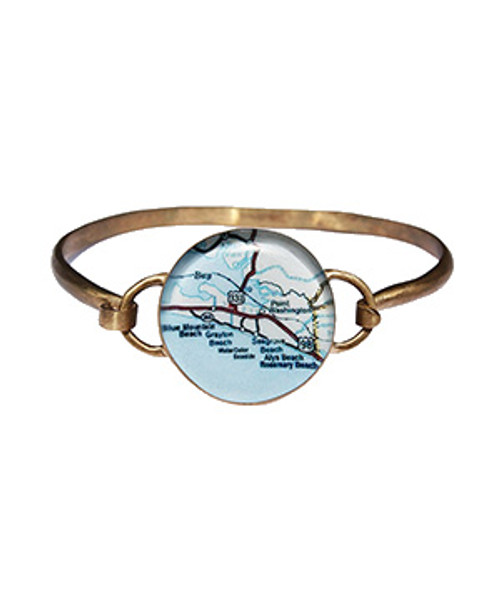 30a Map Bronze Hook Bracelet