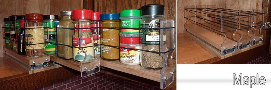 Buy spice rack drawers. Kitchen Organization.