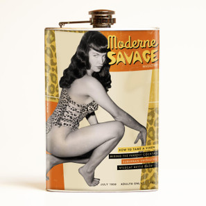 Bettie Page Moderne Savage Flask - OUT OF STOCK!