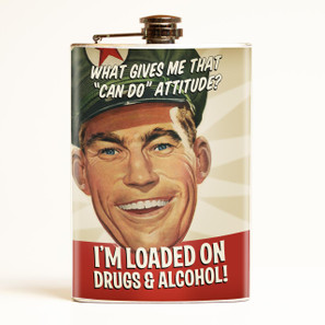 Loaded on Drugs & Alcohol Flask - 0641938655094