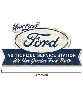 Ford Authorized Service Station Metal Sign -