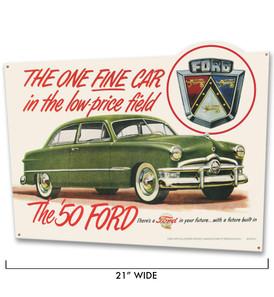 Ford One Fine Car Metal Sign -