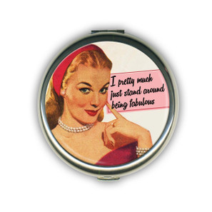 Being Fabulous Compact Mirror