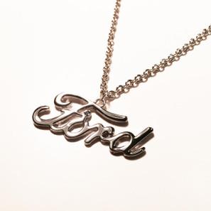 Ford Emblem Detroit Chrome Necklace
