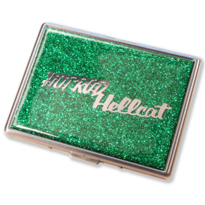 Hot Rod Hellcat Emerald Green Glitter Cigarette Case
