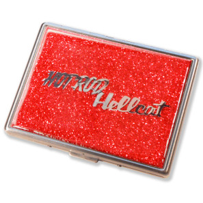 Hot Rod Hellcat Flame Red Glitter Cigarette Case