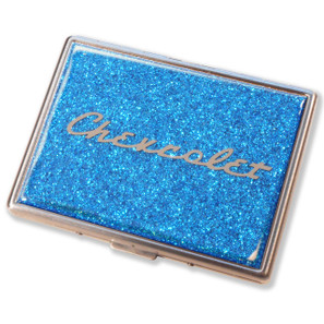 Chevrolet Skyline Blue Glitter Cigarette Case