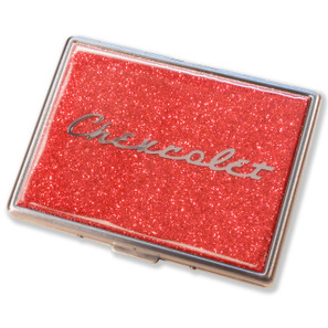 Chevrolet Flame Red Glitter Cigarette Case