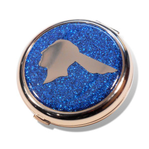 Pontiac Chief Royal Blue Glitter Compact Mirror