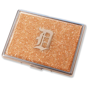 Old School Detroit Champagne Glitter Cigarette Case