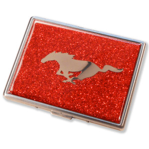 Ford Mustang Flame Red Glitter Cigarette Case