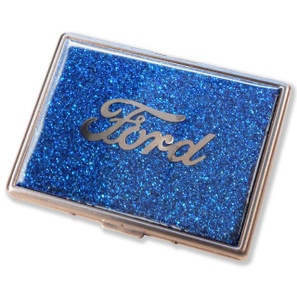 Ford Script Royal Blue Glitter Cigarette Case