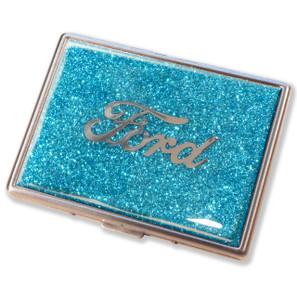 Ford Script Aqua Glitter Cigarette Case