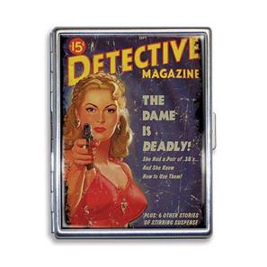 Dangerous Dame Detective Cigarette Case