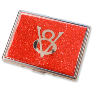 Ford V8 Flame Red Glitter Cigarette Case