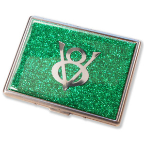 Ford V8 Emerald Green Glitter Cigarette Case