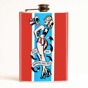 Kiss my American Ass Flask-OUT OF STOCK -