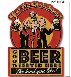 Good Beer Served Here Metal Sign -