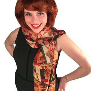 Vintage Pin Ups Fashion Scarf