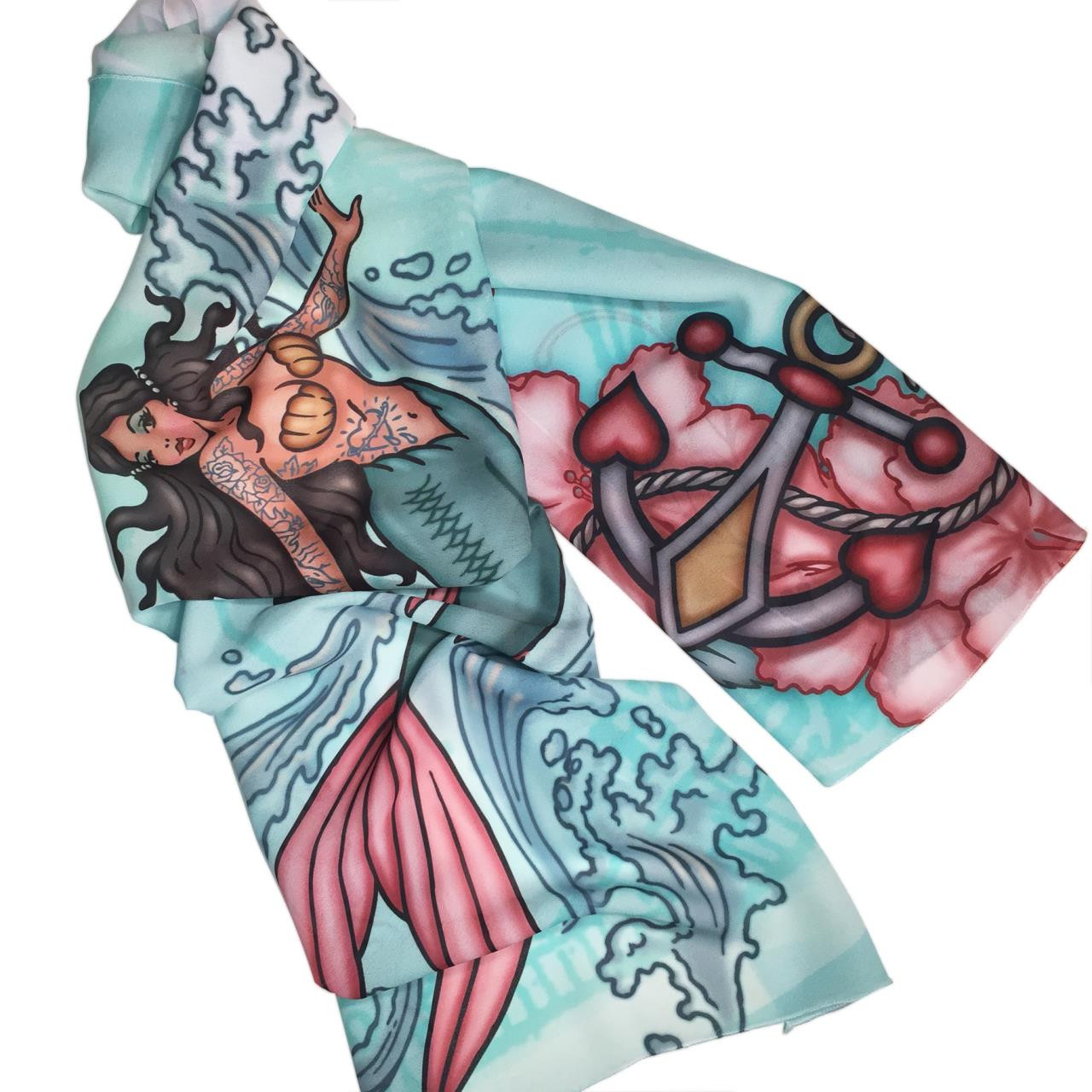 Tattoo Mermaid Fashion Scarf -