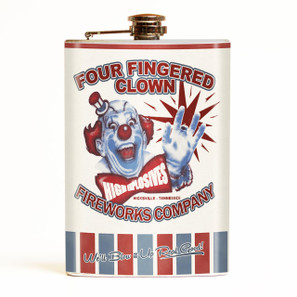 Four Fingered Clown Flask-OUT OF STOCK -