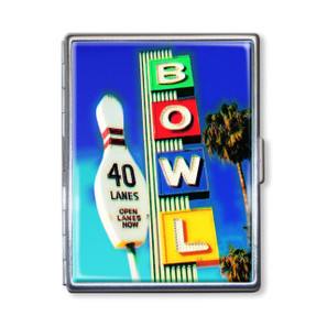Vintage Bowling Alley Cigarette Case