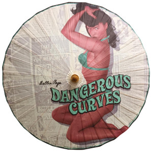 Bettie Page Dangerous Curves Parasol -