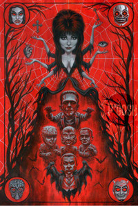 P'gosh Elvira: High Priestess Of Horror Print -