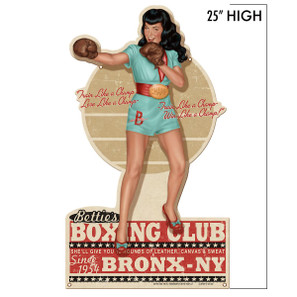 Bettie Page Boxing Bettie Metal Sign* -