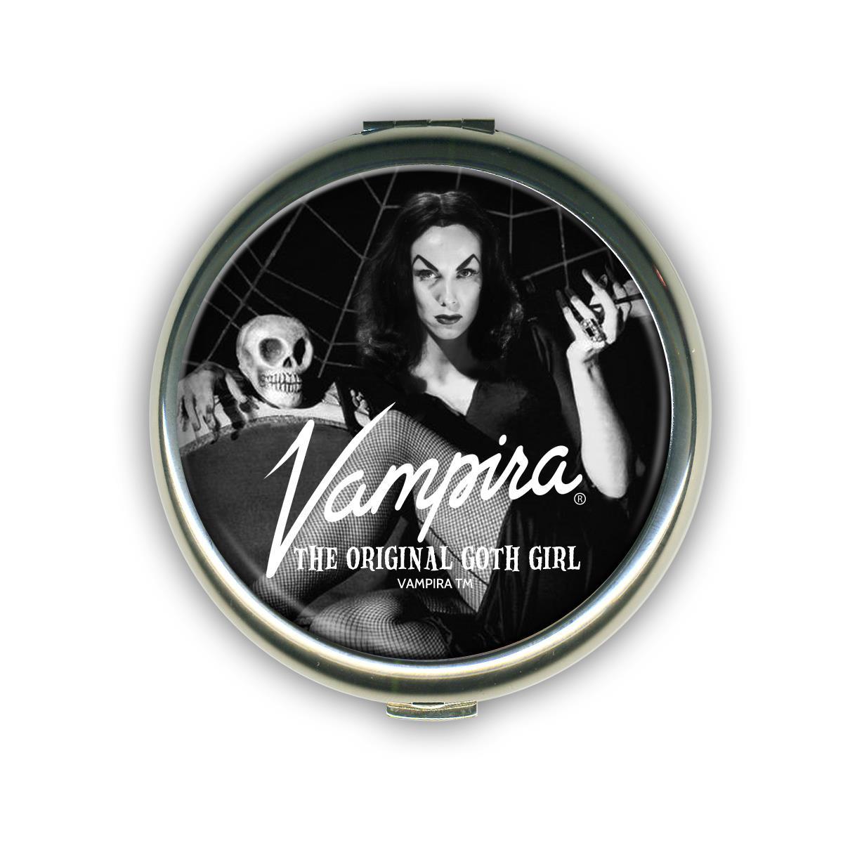 Vampira Goth Girl Compact Mirror* -