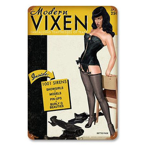 Bettie Page Modern Vixen Metal Sign -